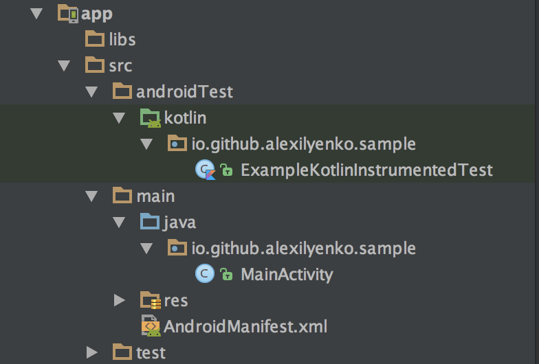 Custom Android project structure