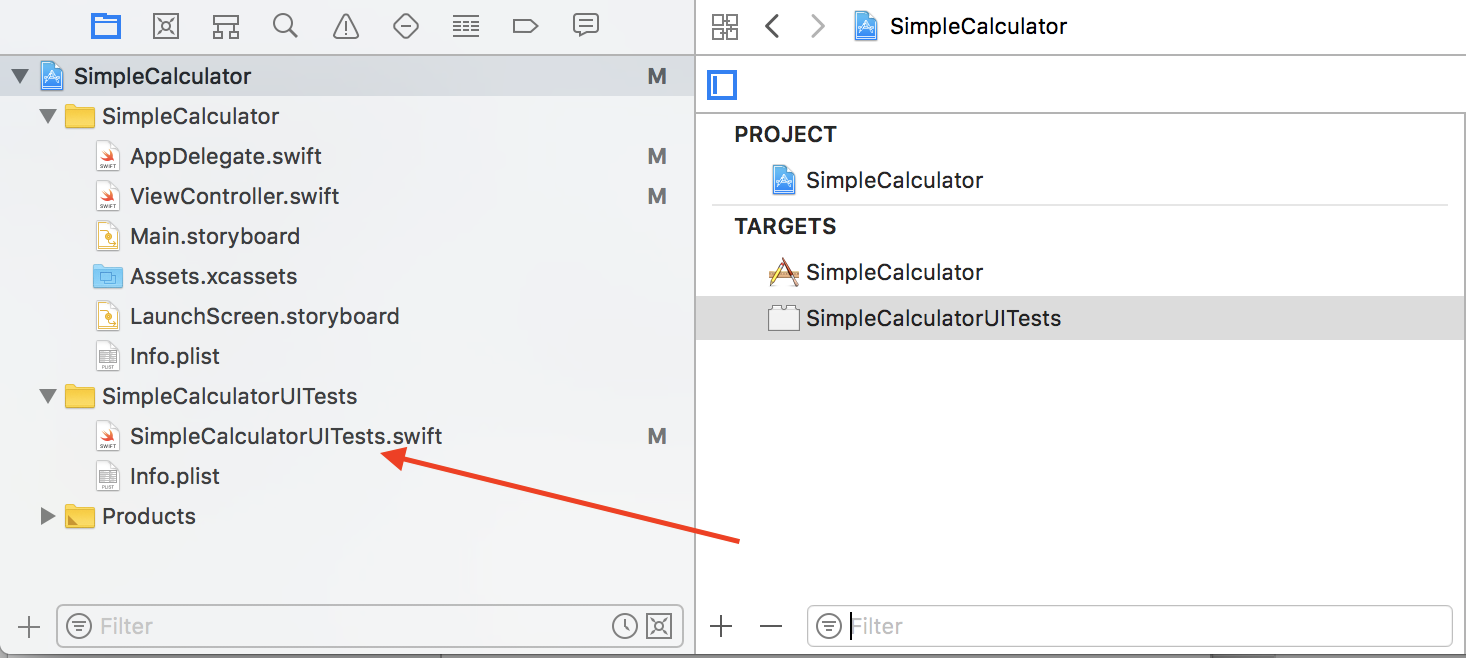 iOS UI Testing target was added to Xcode project