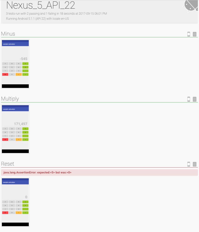 Spoon test sharding on Android emulators